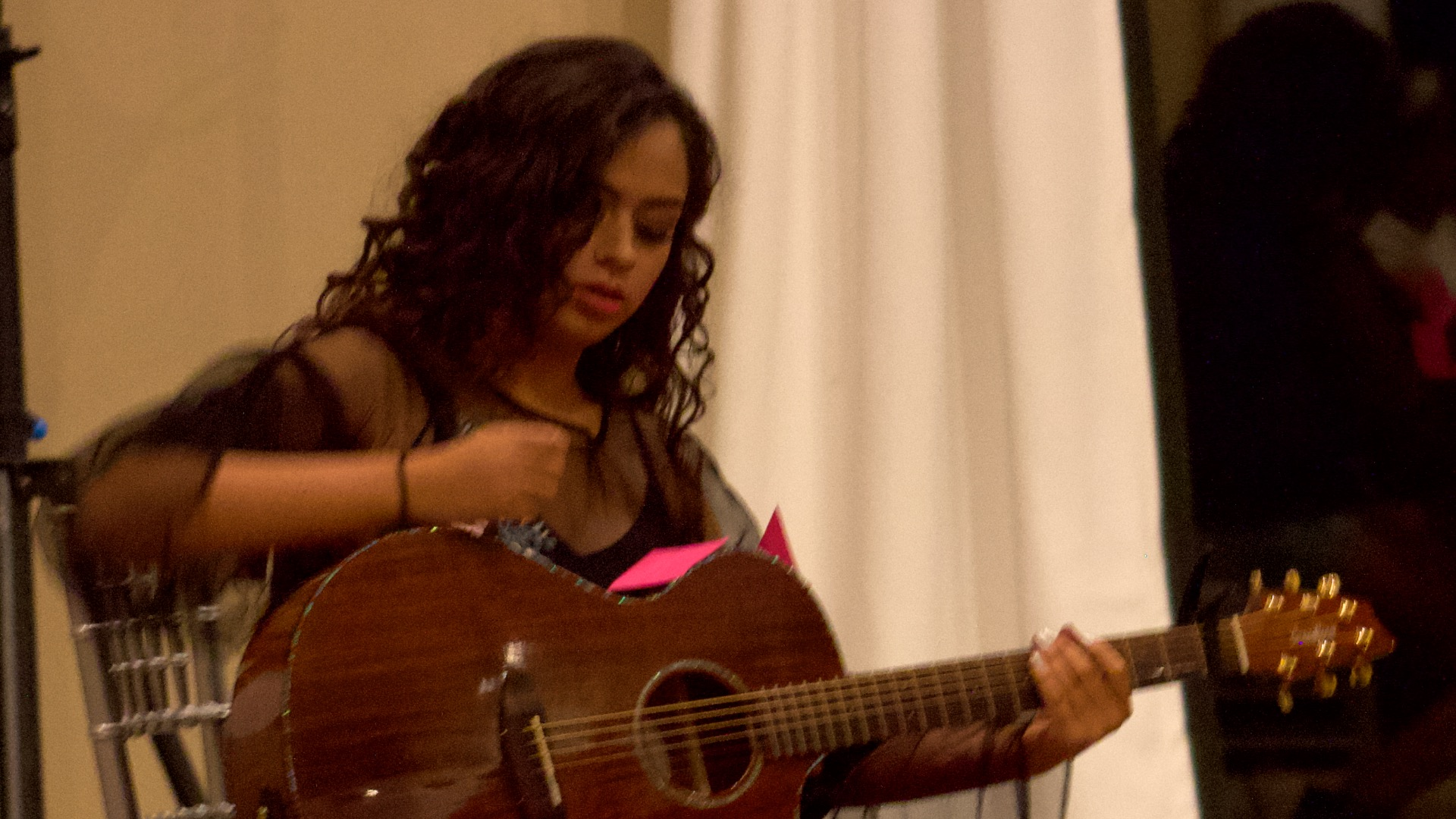 Michelle Fierro performs Sep 14 at Youth for Freedom Fashion Show