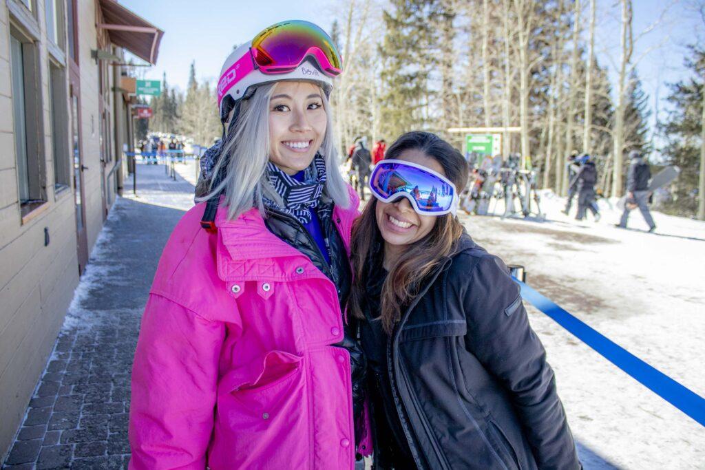 Winnie shee and Elizabeth Campos on Skiing Trip